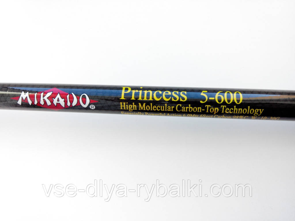Удилище Mikado Princess 6м без колец