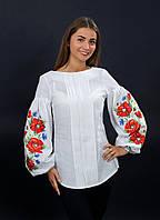 Белая блузка с вышивкой (вышиванка), арт. 4133
