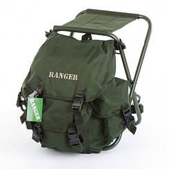 Стул для рыбалки с рюкзаком ,отилчное решение для рыбака  Ranger , полиэстер 800D
