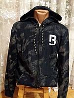 Спортивная мужская кофта, ветровка Reebok (темно-синий) , Реплика