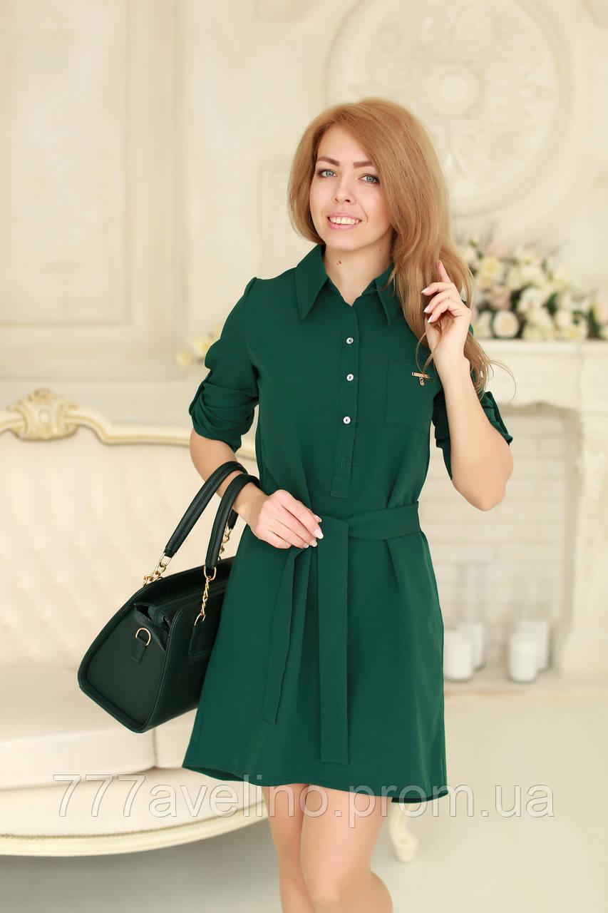 Платье женское модное с поясом