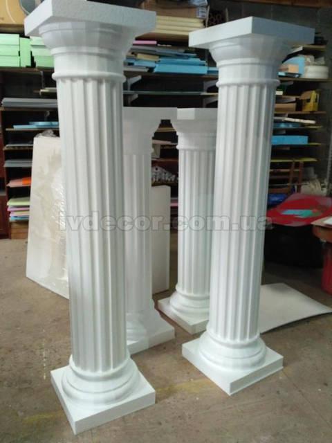 Колонны из пенопласта высотой 1,45м и 1,8м.