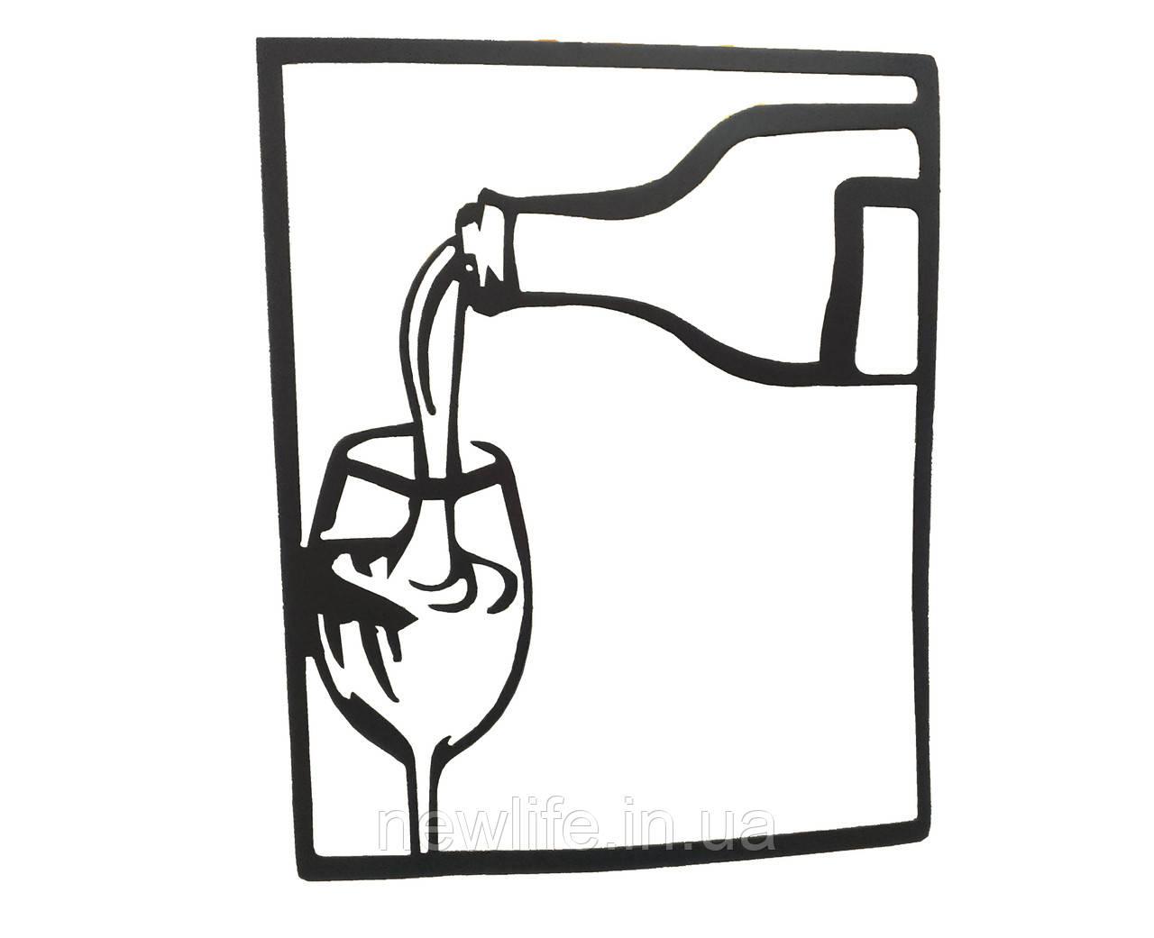 """Художественная плазменная резка металла """"Бокал вина"""""""