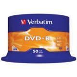 Диски DVD-R 4.7Gb Verbatim 16X CakeBox 50шт (43548)