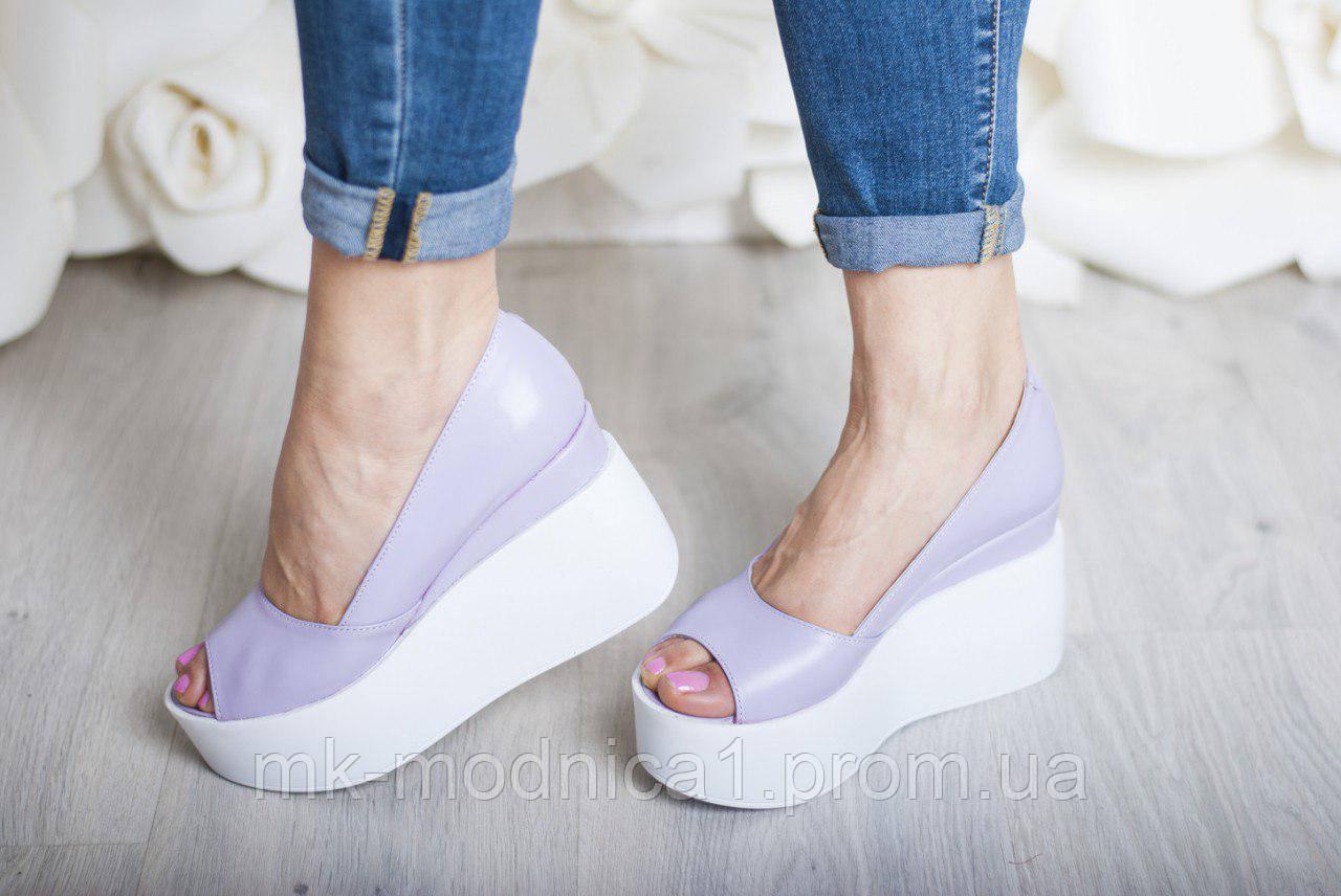 Туфли Кожа  с открытым носком
