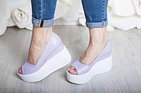 Туфли Кожа  с открытым носком, фото 1