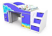 Кровать-чердак Od-40-1 Ocean с лестницой
