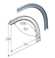 Элемент радиусный RE701H дуга направляющая для гаражных и промышленных ворот ролет Alutech
