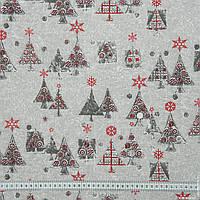 Декоративная новогодняя ткань ёлочки spruce 145024