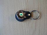 Брелок кожзам округлый Skoda логотип эмблема Шкода автомобильный на авто ключи комбинированный , фото 3