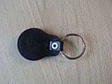 Брелок кожзам округлый Skoda логотип эмблема Шкода автомобильный на авто ключи комбинированный , фото 5