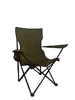 """Стул - кресло складное """" Рыбак """" зеленый с чехлом"""