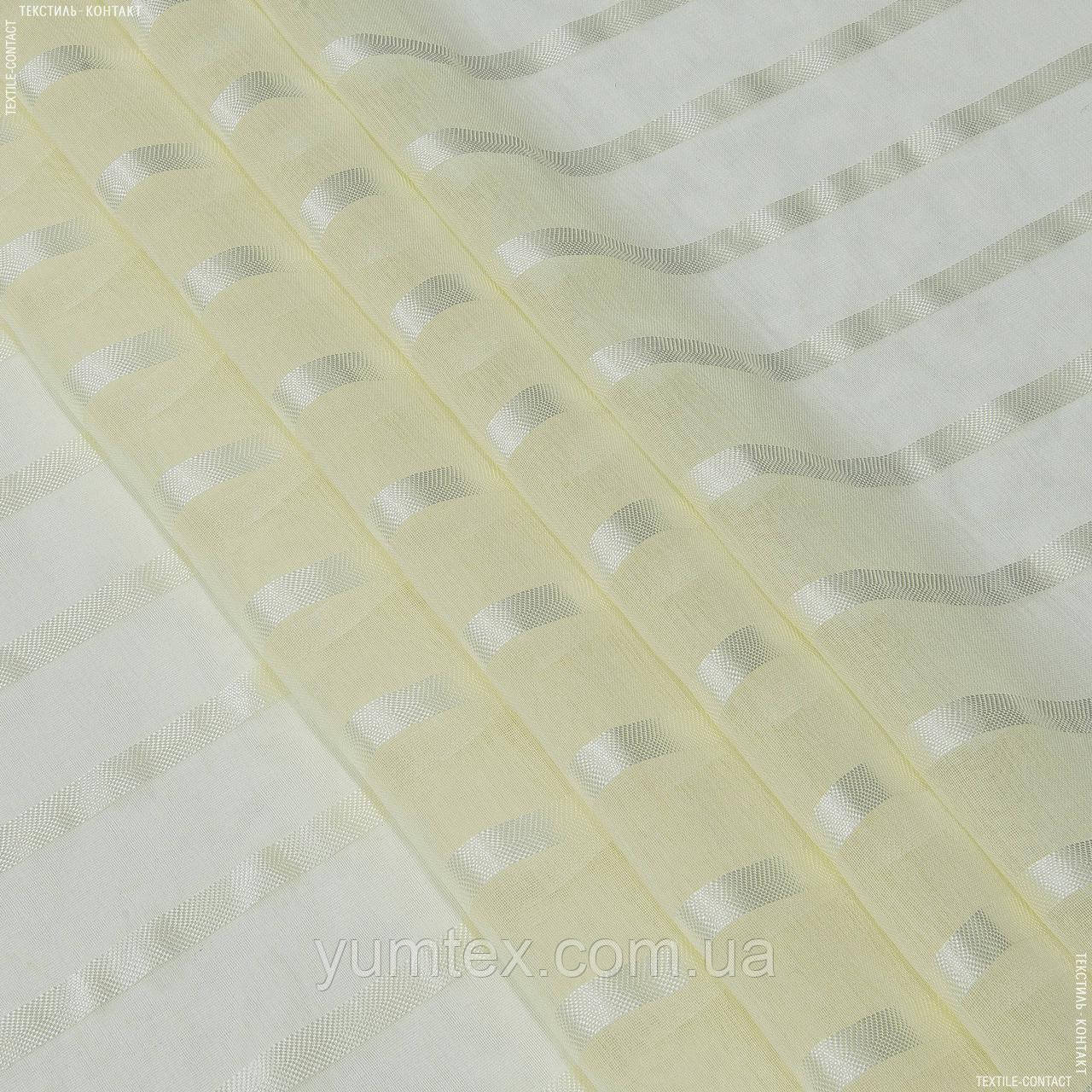 Тюль  кисея мирта ванильный крем 142487
