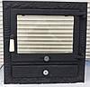 Дверцы для камина печи барбекю 530*530 мм. Печная дверца со стеклом