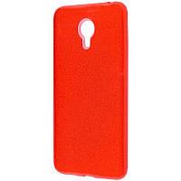 Силиконовая накладка Gliter для MEIZU M6 (Red)