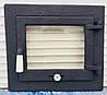 Дверцы для камина печи барбекю 440*390 мм. Печная дверца со стеклом