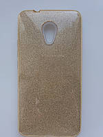 Силиконовая накладка Gliter для MEIZU M6 Note (Gold), фото 1
