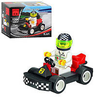 Детский развивающий конструктор игрушка Brick (Брик) «Гоночный Карт» 33 детали 1204, конструктор лего-типа