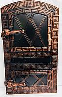 Дверца печная арочная металлическая 560х345 дута, фото 1