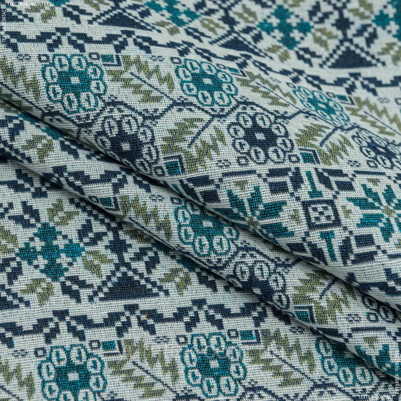 Гобелен скандинавія-2 синій,т. блакитний,оливка 145019