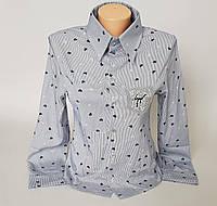Женская молодёжная блузка в мелкие сердечки