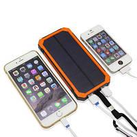 Внешний аккумулятор Power bank на солнечной батарее с LED фонариком SOLAR 5000 mAh iPhoneX