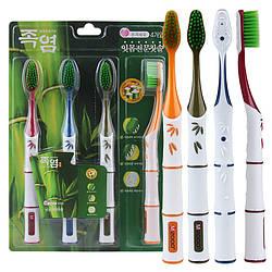 Набір вугільна зубна щітка мягкай щетина нефрит Корея південна міжре 4шт в уп