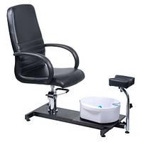 Стул для педикюра с массажем для ног BW-100 black HI, фото 1