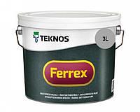 Эмаль алкидная TEKNOS FERREX антикоррозионная (серая) 3 л