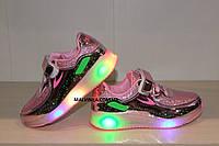 Кроссовки LED на девочку светятся BBT 31,32,33,34,35,36 р арт 982-9