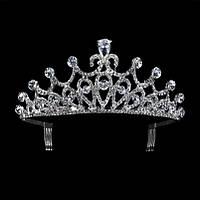 Корона, свадебная  диадема, тиара, высота 5,5 см.