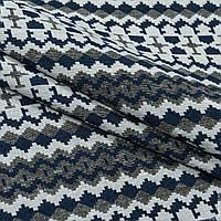 Гобелен орнамент-96 т.синий,серый,молочный 145080, фото 1