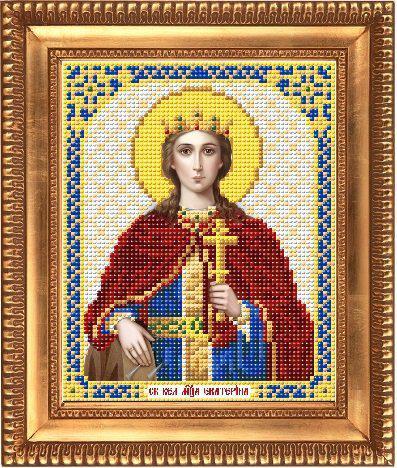 """Схема для вышивки бисером, именная икона """"Святая Великомученица Екатерина"""" И-5103"""
