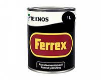 Эмаль алкидная TEKNOS FERREX антикоррозионная (чёрная) 1 л