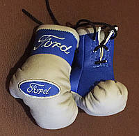 Перчатки боксерские мини сувенир подвеска в авто FORD