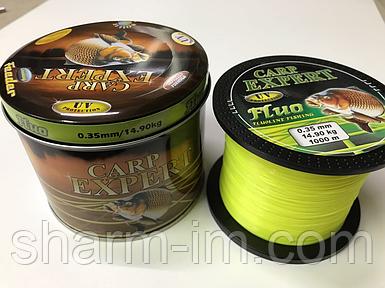 Волосінь Carp Expert UV Fluo Yellow 1000 м 0,35 мм/14,9 кг зі светонакопителем