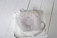"""Детская подушка для новорожденных """"Мишкины ушки"""", звезды"""