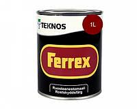Эмаль алкидная TEKNOS FERREX антикоррозионная (красная) 1 л