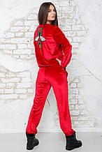 Бархатный костюм Милена красный (42-44)