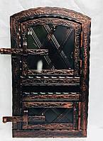 Дверца печная арочная металлическая 560х345