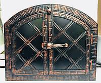 "Дверка для хлебной печи арка метал ""3"" мм .Дута 330х430, фото 1"