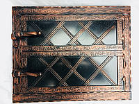 "Дверца для хлебной печи метал ""3"" мм .Дута 530х430мм"