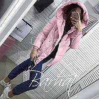 Женская модная куртка с капюшоном и потайными кнопками