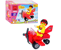"""Детский развивающий конструктор игрушка BRICK 1207""""Самолет"""",фигурка,25 деталей,в коробке,конструктор лего-типа"""