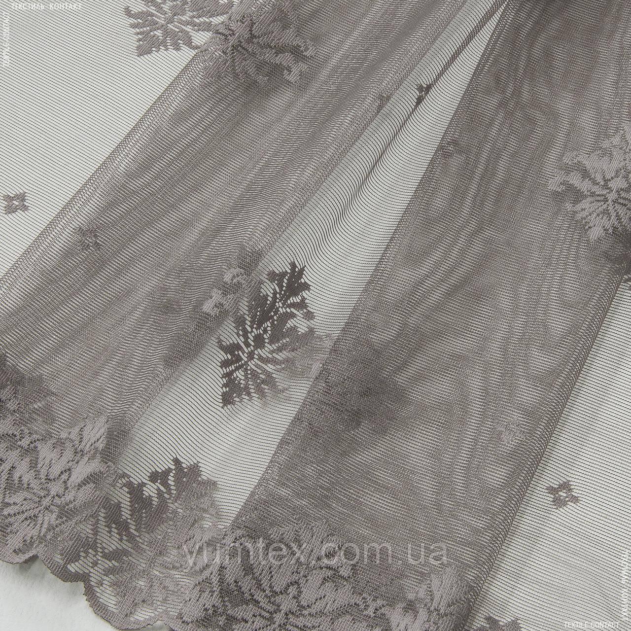 Гардинное полотно гипюр  лилия сизый 144864