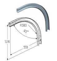 Элемент радиусный RE101 дуга направляющая для гаражных и промышленных ворот ролет Alutech