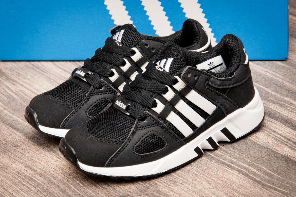 Кроссовки детские  Adidas Equipment Running Support, черные (Код: 2541-3) [  31 33  ]