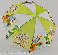 """Детский зонтик трость с собачками на 4-8 лет от фирмы """"SL"""", фото 1"""