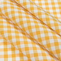Ткань скатертная пепита в клетку желтый 63633