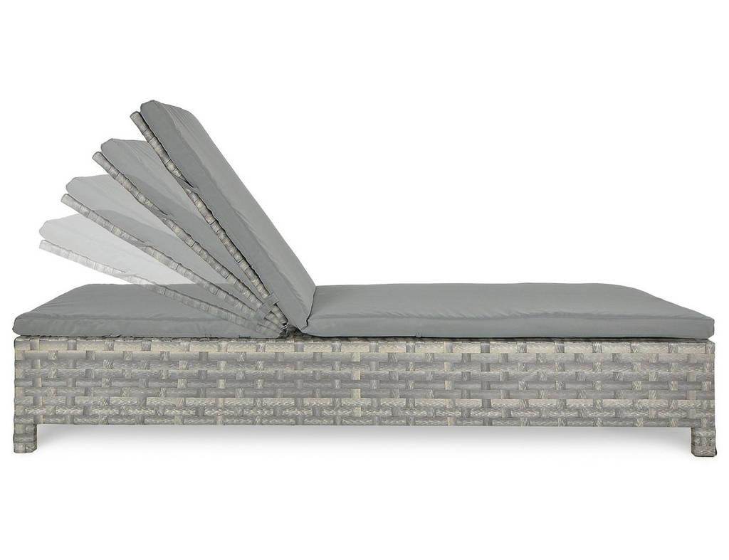 Шезлонг плетений з ротангу Porto_gr   187х66х31/ 92 см з  матрасом